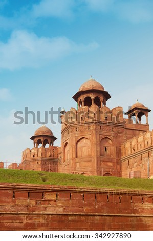 Red fort, Delhi, India - stock photo