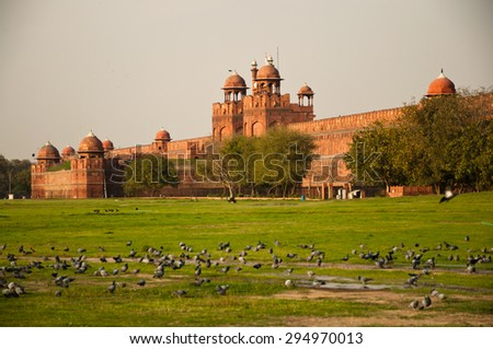 Red Fort view, Delhi, India