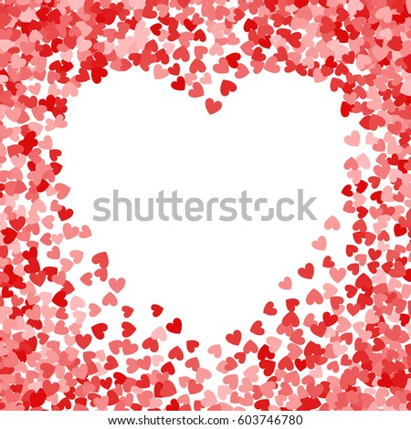 Red frame scatter confetti shape heart stock illustration 603746780 red frame of scatter confetti in shape of heart border design element for festive banner m4hsunfo