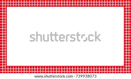Red Frame Abstract Geometric Shapes Stock Illustration 739938073 ...