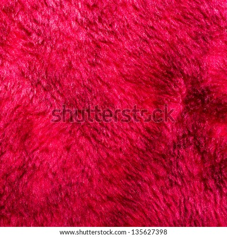 Red fur texture for background usage - stock photo