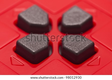 red gamepad - stock photo
