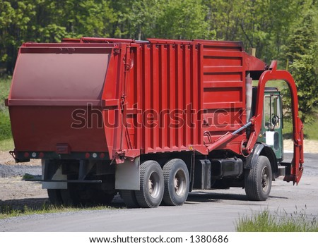 Red Garbage Truck
