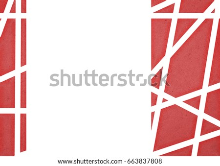 red geometric illustration for background or wallpaper in the A4 paper size