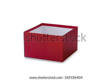 red gift box for someone special occasion on white background