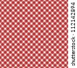 Red  gingham fabric  background that is seamless - stock photo