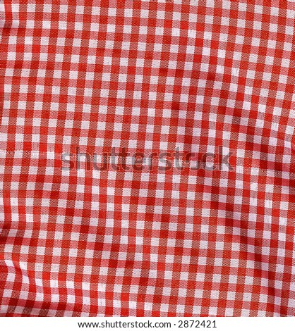 Red Gingham Plaid Texture - stock photo