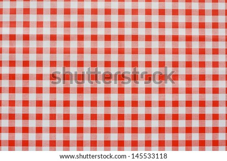 Red gingham tablecloth often found in diners and cafes a popular traditional covering for tables where food is consumed