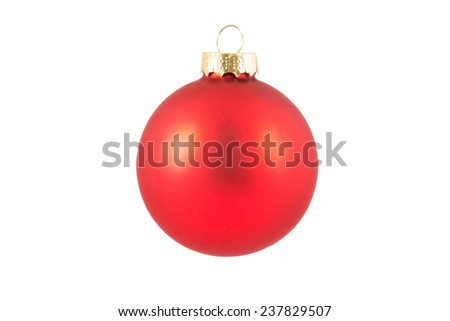 Red glass ball isolated on white