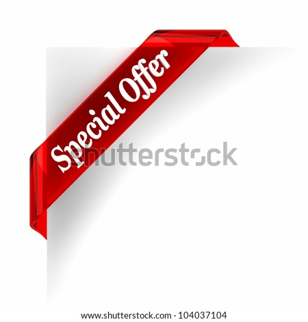 Red glass top banner. Part of a series. - stock photo