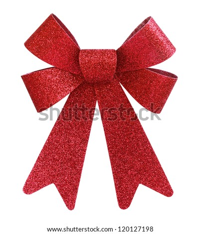 Shutterstocklvvgift bow red glitter gift bow isolated on white negle Image collections