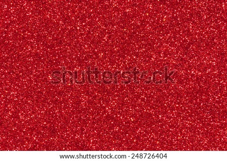 red glitter texture christmas background - stock photo