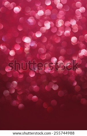 Red glittering christmas lights. Blurred abstract background - stock photo