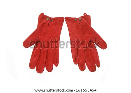 Red gloves  - stock photo