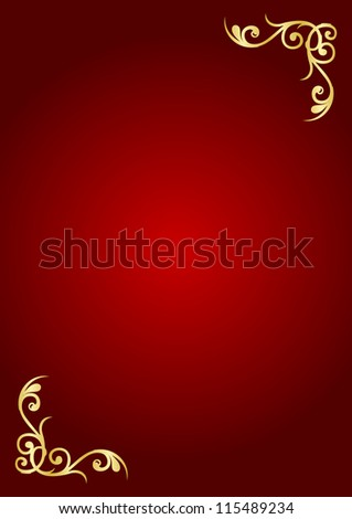 Red & gold luxury background - stock photo