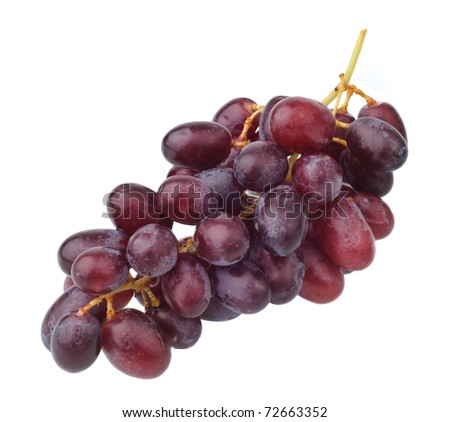red grape isolated on clean white - stock photo