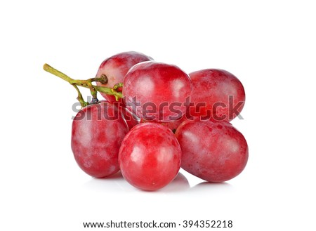 red grape isolated on white.