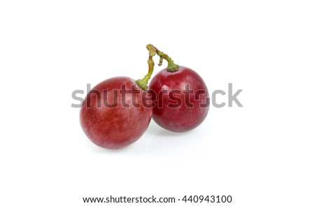 red grape on white background