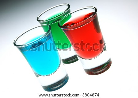red green and blue shots
