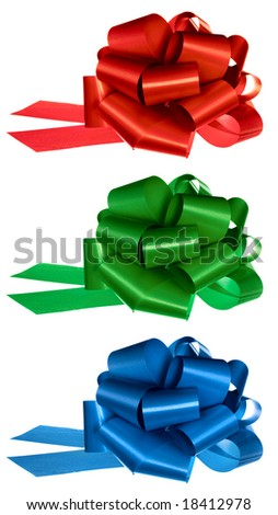 Red Green Blue bows set