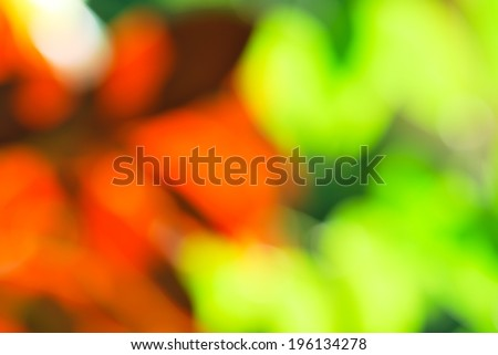 Red green light bokeh nature background - stock photo