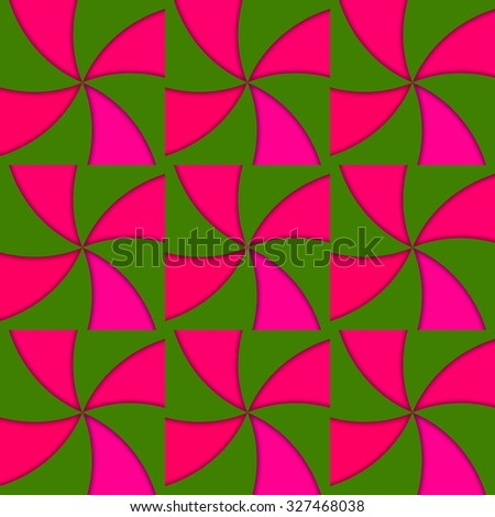 Red green vane regular tileable abstract pattern - stock photo