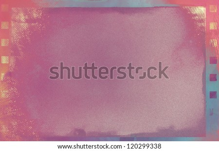 red grunge film background - stock photo