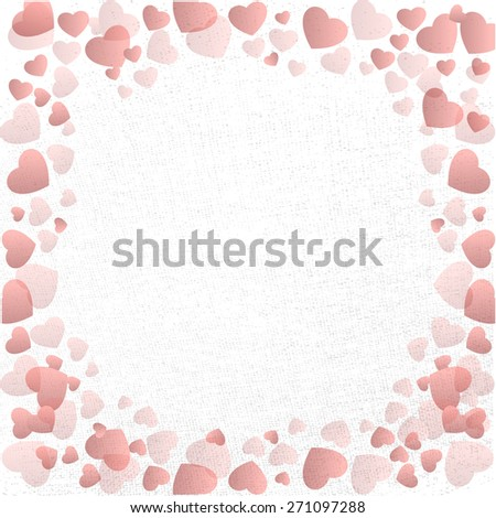 red grunge heart card - stock photo