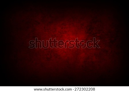 Red grunge textured wall - stock photo