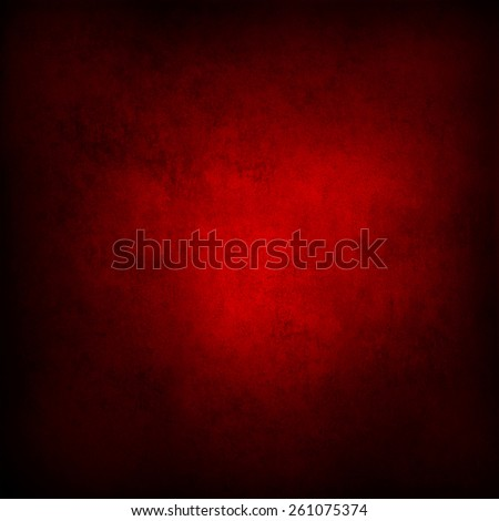 Red grunge textured wall. Dark edges. Advertising copy space - stock photo