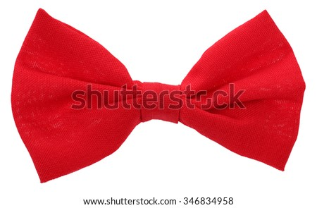 Red hair bow tie - stock photo