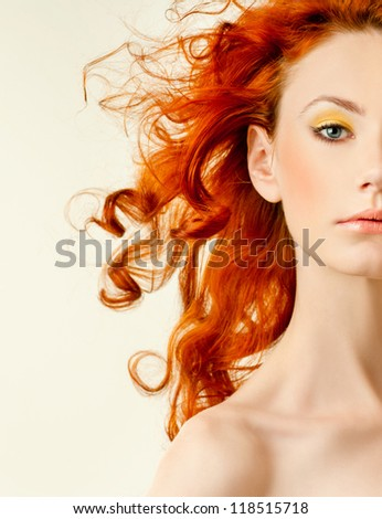 Red-haired cutie - stock photo