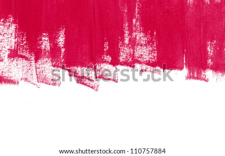 Red hand painted brush strokes background