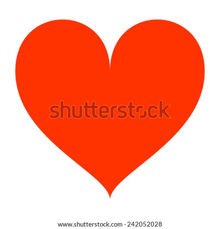 red heart.  - stock photo