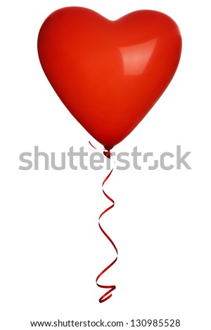 Red heart balloons - stock photo