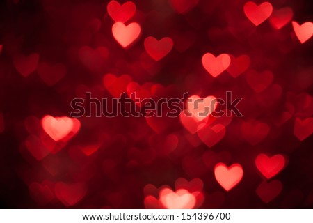 red heart bokeh as background - stock photo