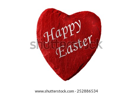 red heart happy easter