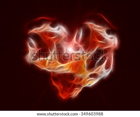 red heart shape fractal