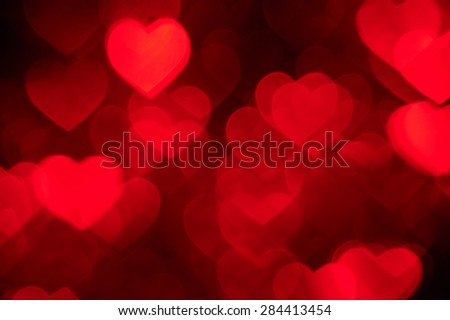 red heart shape holiday photo as background - stock photo