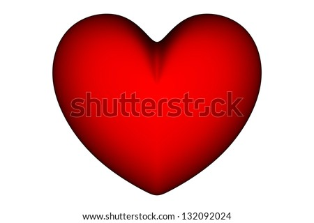red  heart symbol on white background Ideal for Valentines Day, Mothers Day, wedding, I love you etc  illustrations and