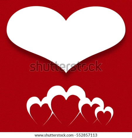 Red heart with a white background. Valentines day background