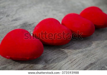 Red hearts for Valentine day