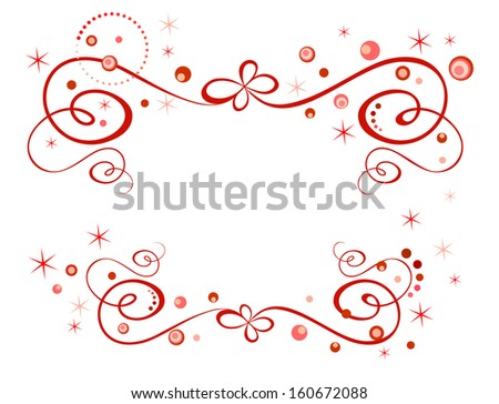 Red holiday border. Raster copy - stock photo