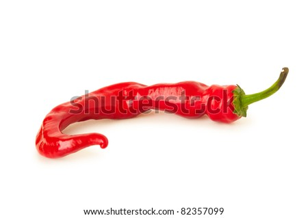 Red Hot Chili Pepper, completely isolated on white