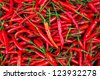 Red hot chili peppers background. - stock photo