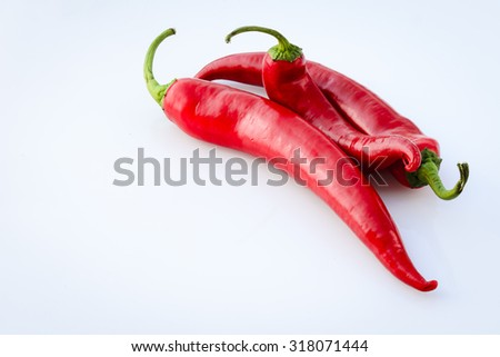red hot chilli peppers in the summer sun - stock photo