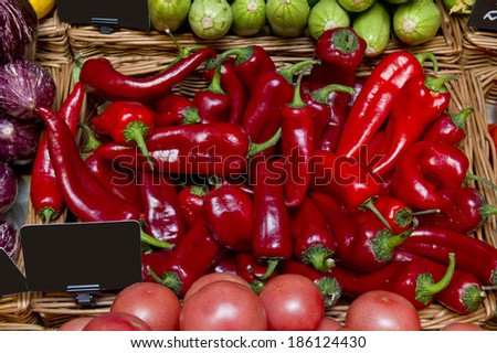 red hot peppers on the market