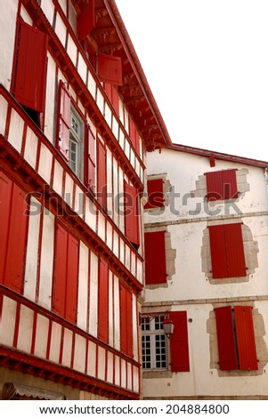 Red houses-Ciboure-France