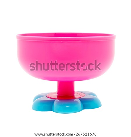 Red Ice cream cup isolated on white background - stock photo