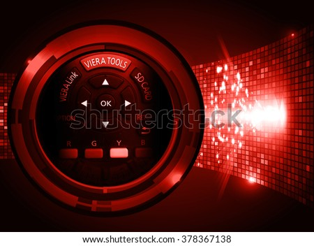 red illustration of technology internet network computer background with binary number, style. infographics. Information. motion blur. pixel. Binary digit. number. Odometer,clock, watch